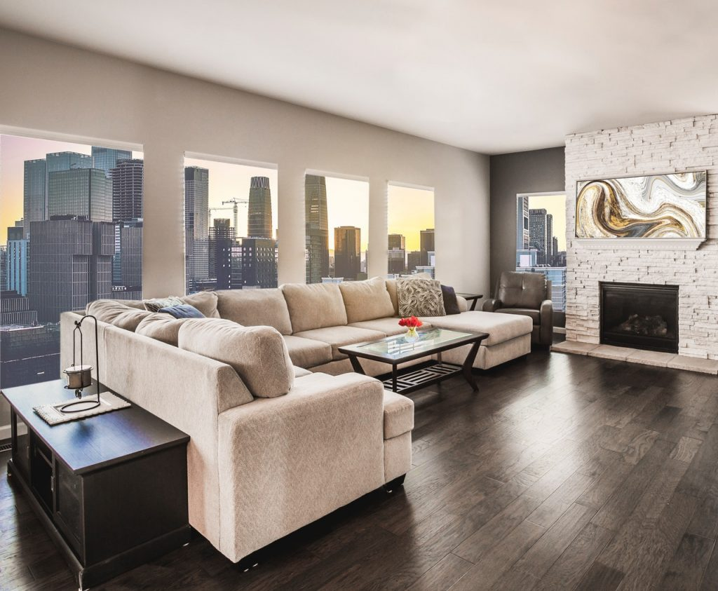 furniture in penthouse