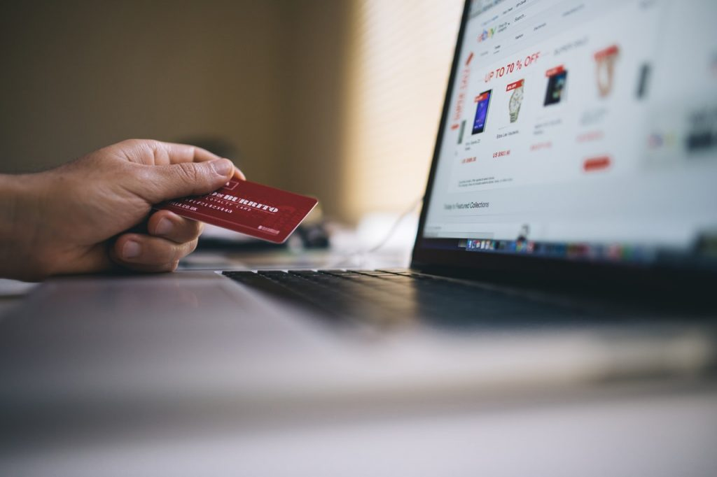 shopping website credit card